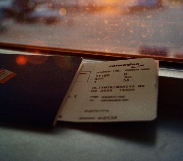 bilet lotniczy okno